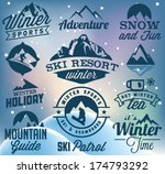collection of winter sports... | Shutterstock .eps vector #174793292