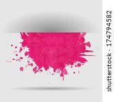 abstract background with pink... | Shutterstock .eps vector #174794582