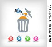 disposal of construction... | Shutterstock .eps vector #174794606