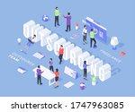 modern three dimensional vector ... | Shutterstock .eps vector #1747963085