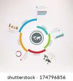 spiral timeline infographics.... | Shutterstock .eps vector #174796856