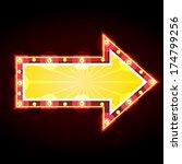 neon sign advertising... | Shutterstock .eps vector #174799256