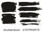 flat paint brush thin full... | Shutterstock .eps vector #1747994975