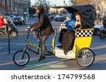 paris  france   january 6  2012 ... | Shutterstock . vector #174799568