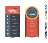 vector vertical header web menu ...   Shutterstock .eps vector #174800522