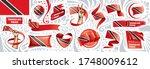 vector set of the national flag ... | Shutterstock .eps vector #1748009612
