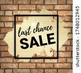 last chance sale banner design... | Shutterstock .eps vector #1748012945