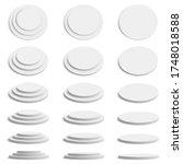 cylinder 3d platform. realistic ... | Shutterstock .eps vector #1748018588