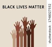 black lives matter background... | Shutterstock .eps vector #1748027552