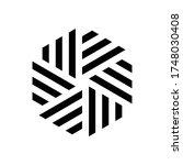 box logo. square icon. triangle ... | Shutterstock .eps vector #1748030408