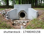 Formed Concrete Headwall For...