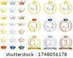 crown and ranking icon set | Shutterstock .eps vector #1748056178