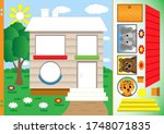 the task for kids is to cut out ...   Shutterstock .eps vector #1748071835