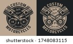vintage motorcycle repair... | Shutterstock .eps vector #1748083115