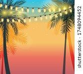 summer holiday design sunset...   Shutterstock .eps vector #1748094452