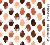 seamless pattern of a people s... | Shutterstock .eps vector #1748100698