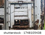 Detail On Old Wooden Cart Of A...
