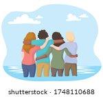 illustration of people united... | Shutterstock .eps vector #1748110688