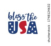 bless the usa   happy... | Shutterstock .eps vector #1748124632