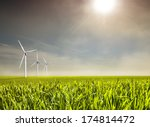 agriculture and wind energy | Shutterstock . vector #174814472