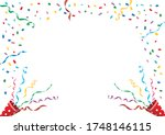 party toy cracker background... | Shutterstock .eps vector #1748146115