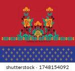 modern salwar kameez artwork... | Shutterstock .eps vector #1748154092