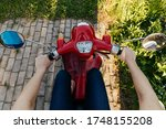 Speedometer Red Moped. Old...