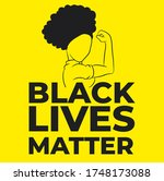 black lives matter. symbol of... | Shutterstock .eps vector #1748173088