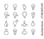 light bulb related icons  thin...   Shutterstock .eps vector #1748185145