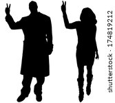 vector silhouettes man and... | Shutterstock .eps vector #174819212