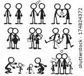 Stick Figure Family Love