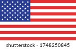 image of the flag of usa ... | Shutterstock . vector #1748250845