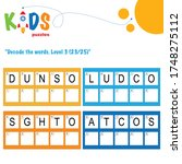 decode the 5 letter words.... | Shutterstock .eps vector #1748275112