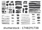 set of gray scale acrylic brush ... | Shutterstock .eps vector #1748291738
