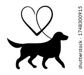 Labrador Retriever And Heart...