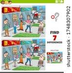 cartoon illustration of finding ... | Shutterstock .eps vector #1748307902