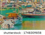 Illustration Of A Small Port...