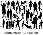 people 7 set | Shutterstock .eps vector #174831485