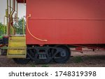A train caboose in Cookeville, Tennessee