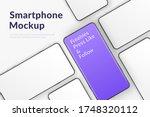 realistic vector smartphones... | Shutterstock .eps vector #1748320112