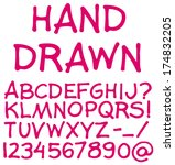 hand drawn alphabet.  | Shutterstock .eps vector #174832205