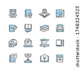 book icon set in thin line style | Shutterstock .eps vector #1748324525