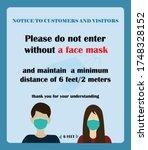 wear face mask symbol. please...   Shutterstock .eps vector #1748328152