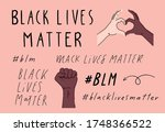 black lives matter hand written ... | Shutterstock .eps vector #1748366522
