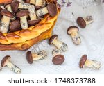 cookies mushrooms glazed in... | Shutterstock . vector #1748373788