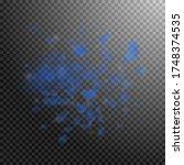 dark blue flower petals falling ...   Shutterstock .eps vector #1748374535