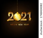 happy new year 2021 banner... | Shutterstock .eps vector #1748404082