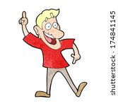 cartoon man with great idea | Shutterstock . vector #174841145