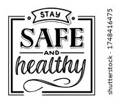stay safe and healthy. vector... | Shutterstock .eps vector #1748416475