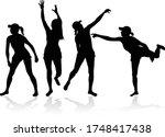 group of people. black...   Shutterstock .eps vector #1748417438